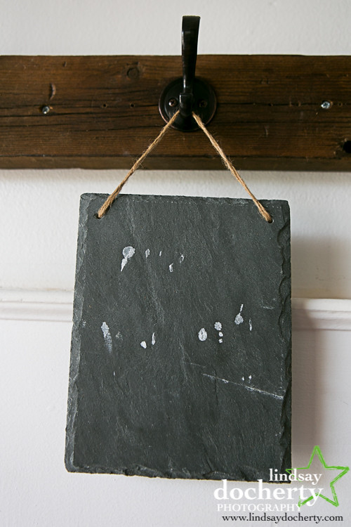 Craft project chalkboard paint sign