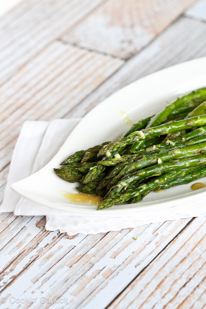 Roasted Asparagus with Dijon Vinaigrette Dressing