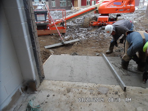 Pouring frost slab area A