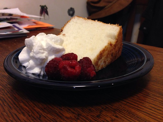 Angel Food Cake Plated