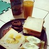 Mango shake and sandwich for lunch :) #mangoshake #sandwich