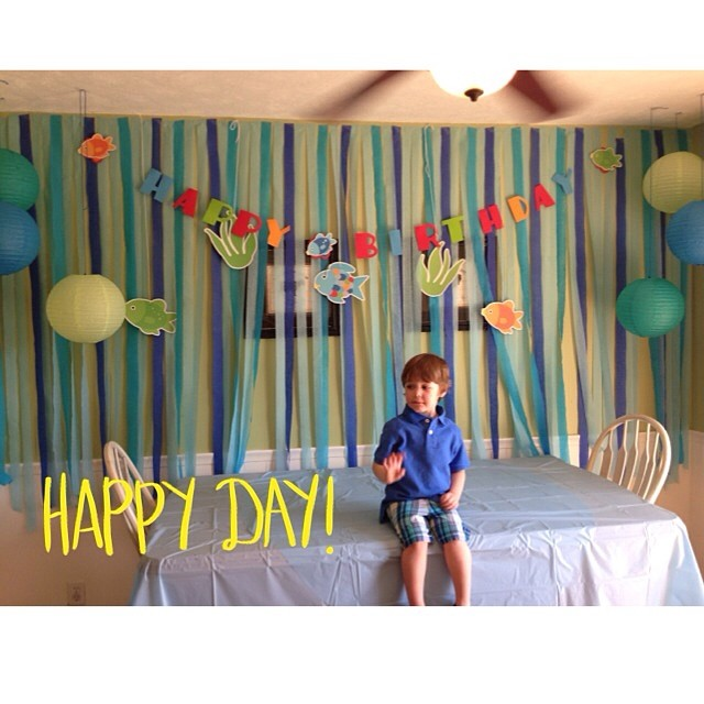 Malachi's decorations. By Melinda with help from Katie.