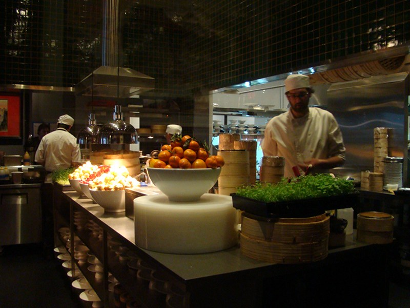 Luckee Restaurant kitchen