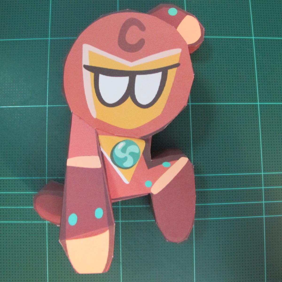 วิธีทำโมเดลกระดาษตุ้กตาคุกกี้รัน คุกกี้รสฮีโร่ (LINE Cookie Run Hero Cookie Papercraft Model) 026