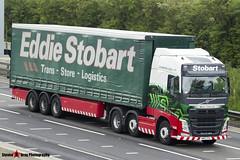 Volvo FH 6x2 Tractor with 3 Axle Curtainside Trailer - KM63 ZZU - H4005 - Hettie Catherine - Eddie Stobart - M1 J10 Luton - Steven Gray - IMG_8089