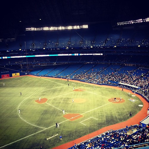 May ballgame: check. #baseball #bluejays #mlb #rogerscentre #toronto