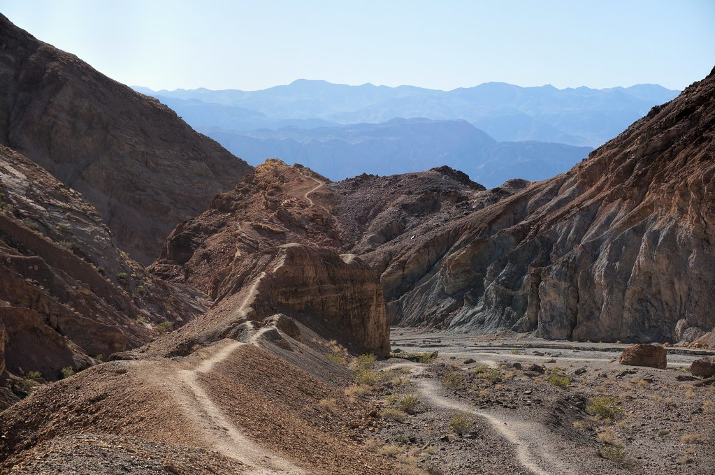 elevation of death valley national park  california  usa