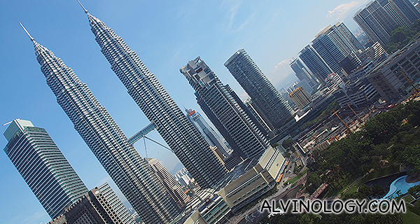View of Petronas Towers from my room window