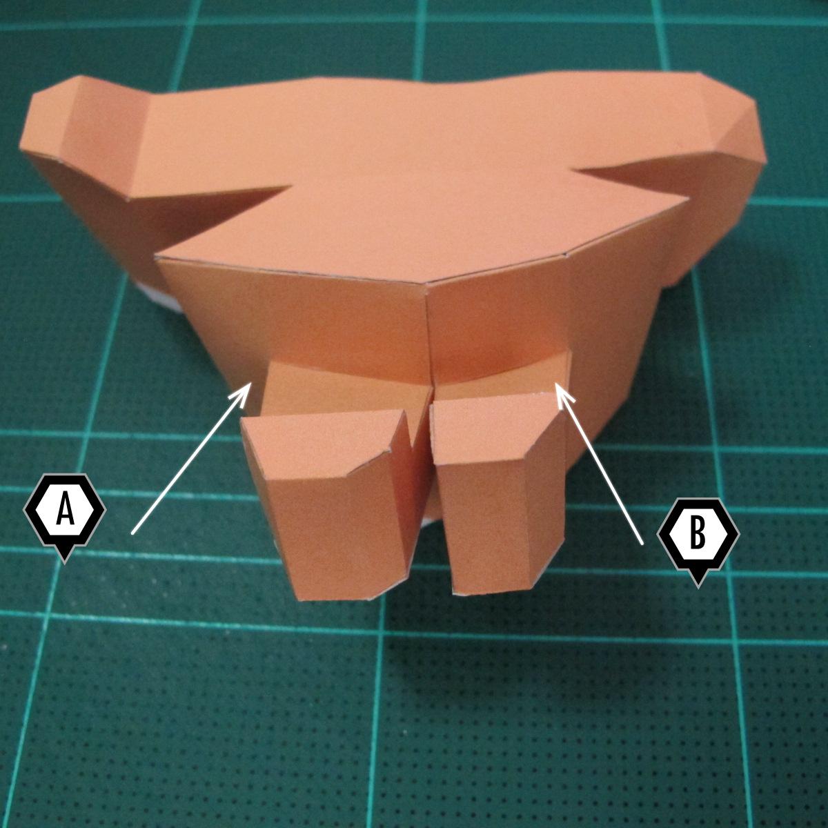 วิธีทำโมเดลกระดาษตุ้กตา คุกกี้สาวผู้ร่าเริง จากเกมส์คุกกี้รัน (LINE Cookie Run – Bright Cookie Papercraft Model) 019