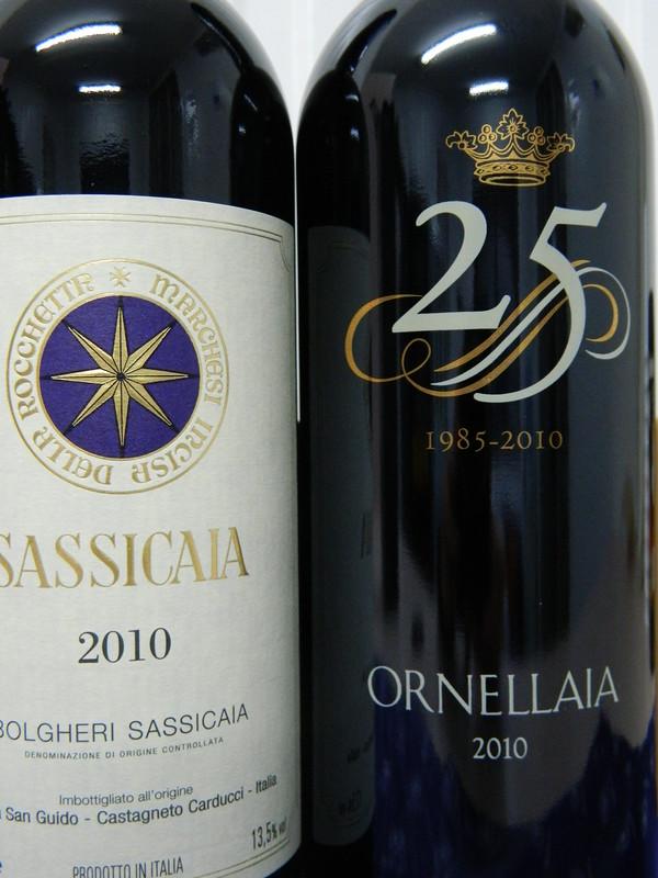 2010 Ornellaia e Sassicaia  (Super Tuscan)