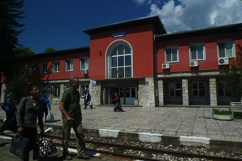 On the train to Bansko, Bulgaria