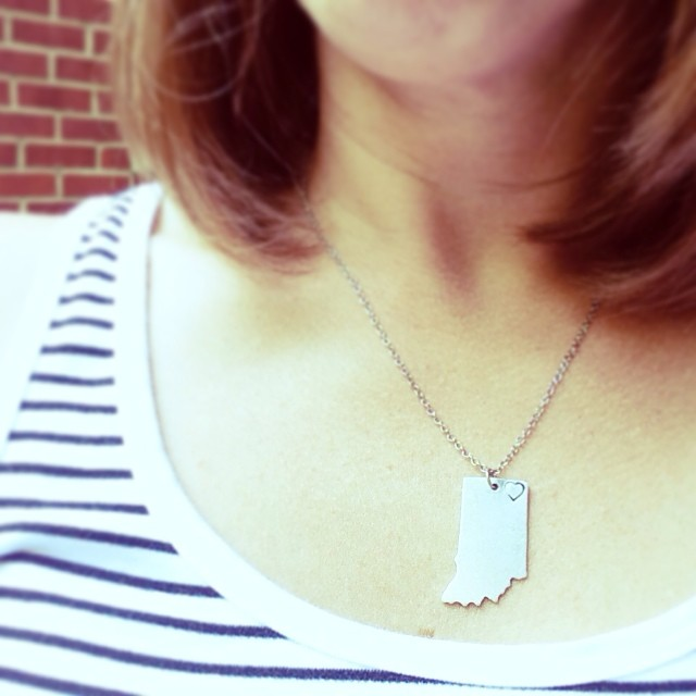 stamped Indiana necklace