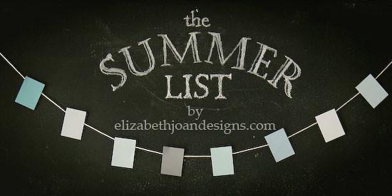 The Summer List 1