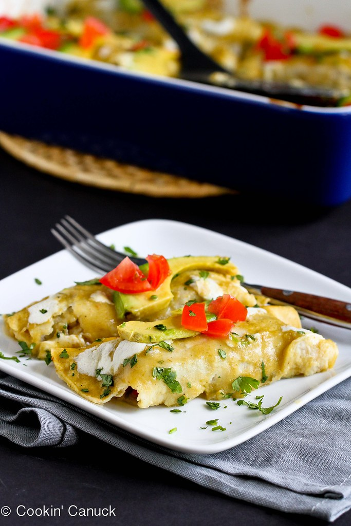 Grilled Vegetable Enchiladas Recipe {Gluten-Free and Vegetarian}...140 calories and 4 Weight Watchers PP