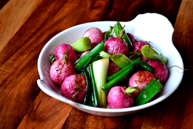 Spring Onion and Radish Salad