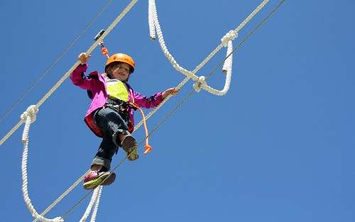 Ropes course at Crystal Mt.