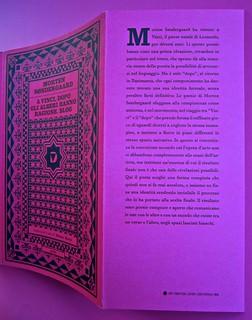 A Vinci, [...], di Morten Søndergaard. Del Vecchio edizioni 2013. Art direction, cover, logo: IFIX. Copertina, risvolto della copertina (part.), 1