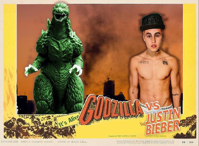 Godzilla Vs Justin Bieber