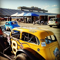 Race Day and we have blue skies!! #uslegends #racing #8 #HooliganMotorsports #NHMS