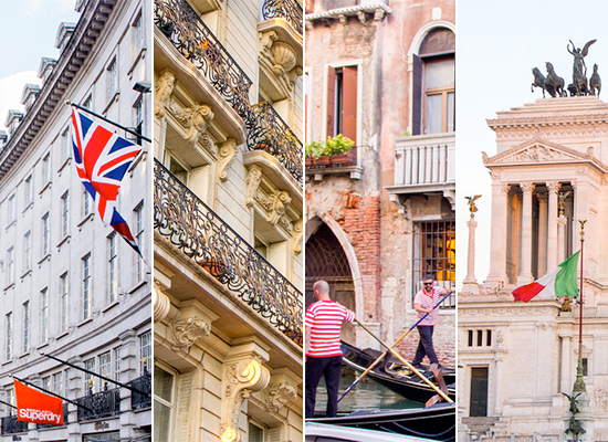 London, Paris, Venice, Rome