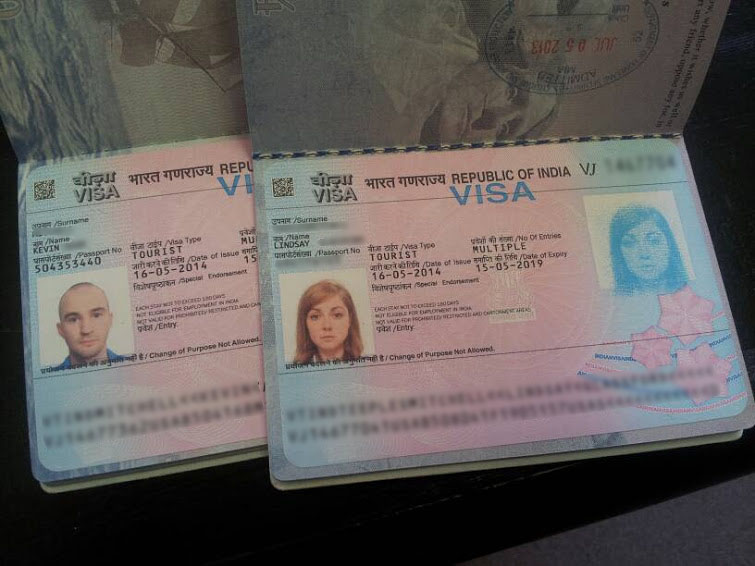 Our Indian Visas!