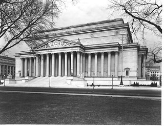Photograph of the National Archives Building Constitution Avenue Entrance, 12/22/1935
