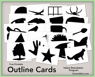 Free Outline Cards (infant stimulation program)