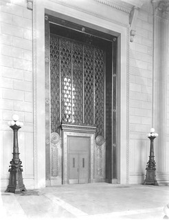 Photograph of the National Archives Building Entrance Doors on Constitution Avenue, 10/23/1935