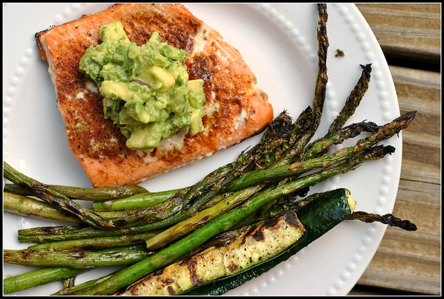 Grilled Salmon with Avocado Salsa 3