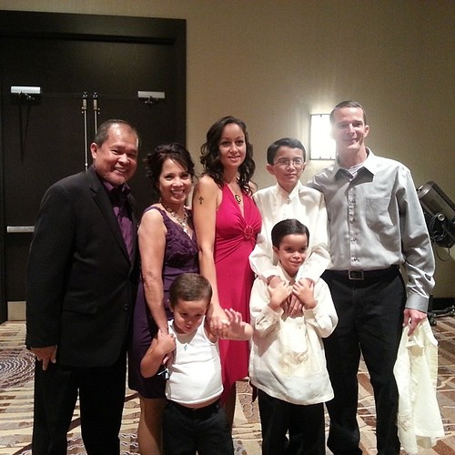 Mom and dad with the Cannadys at the Filipino Ball.