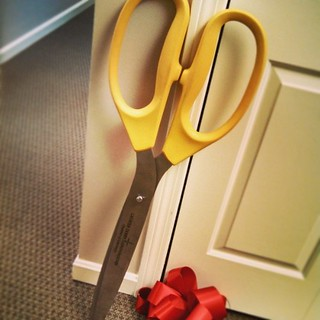 Holy scissors Batman! Open House at work today! #GiantScissors #RibbonCutting #OpenHouse #GDLChamber #newhampshire
