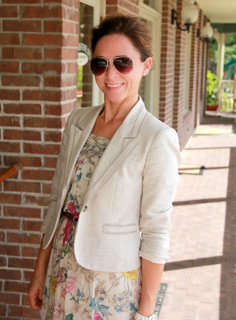 dressy maxi outfit via Kristina J blog