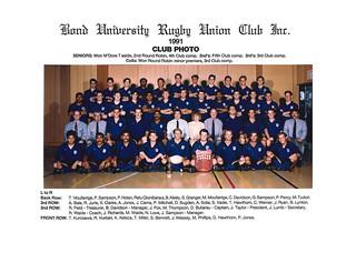 Bond Uni Rugby Club 1991 Photograph