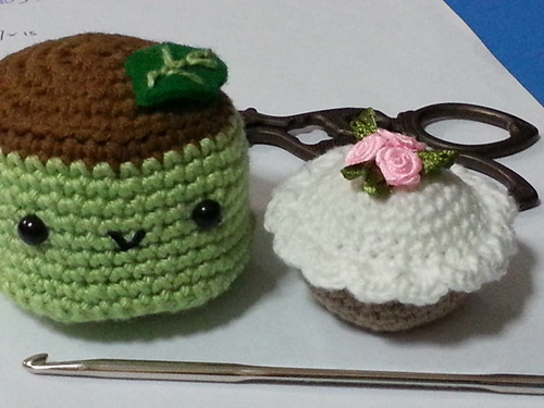 Mini Cupcake and Green Tea Pudding