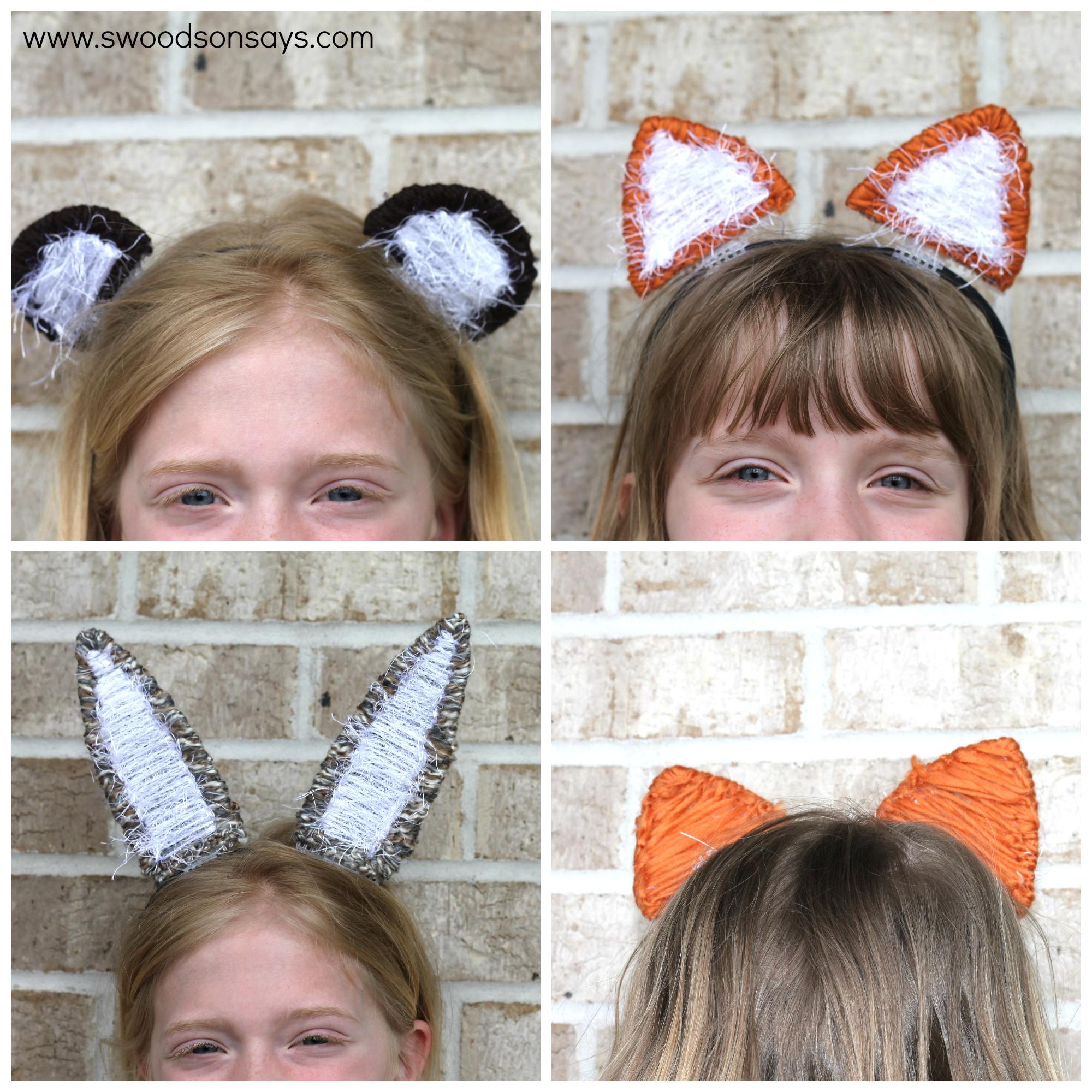 DIY Interchangeable Animal Ear Headband - swoodson Says