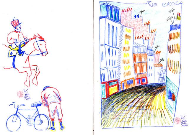 Personnages de Deauville / Paris - Rue de Broca