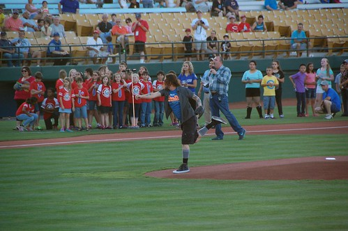 Dizzy Reed first pitch