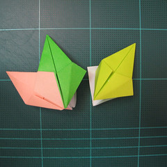 การพับกระดาษแบบโมดูล่าเป็นดาวสปาราซิส (Modular Origami Sparaxis Star) 022