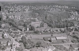 Utsikt nordover mot Herregården fra Larvik hospital