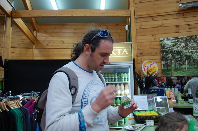 Comiendo mermelada de Kiwi