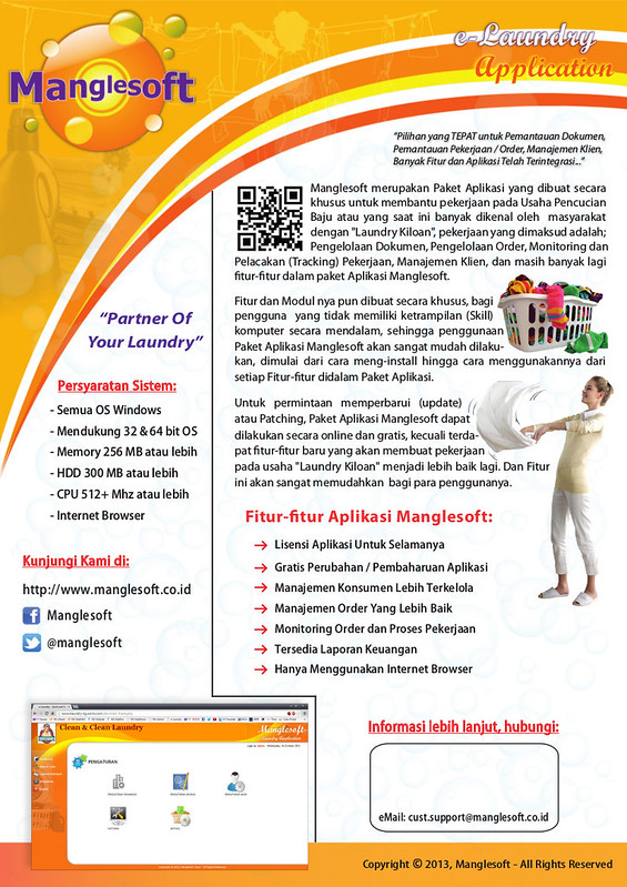 Brosur Aplikasi Laundry Manglesoft