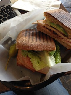 Club sandwich at Sack's