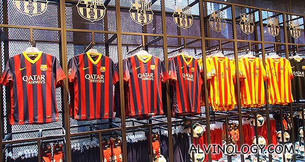 Assorted jerseys