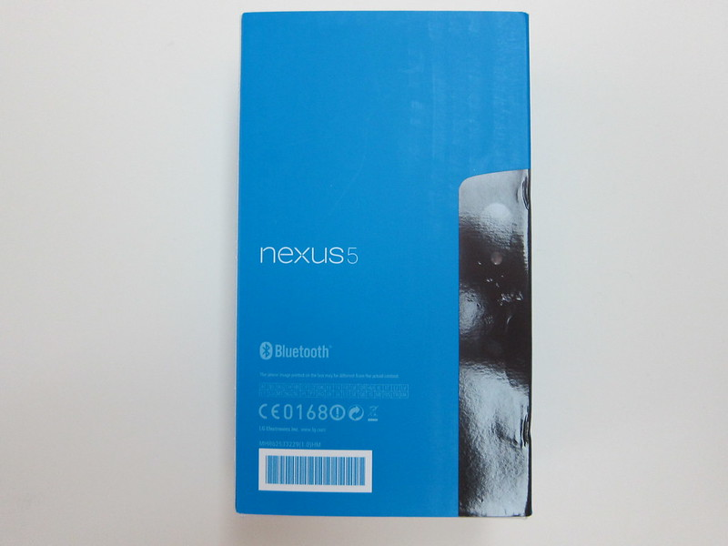 Nexus 5 - Box Back