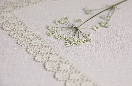 flowers and bobbinlace