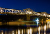 Madison Indiana Bridge at Night