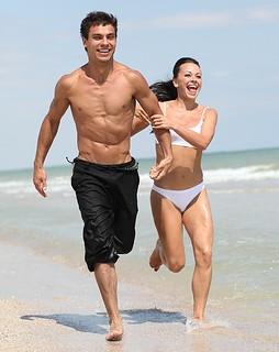 um casal magro