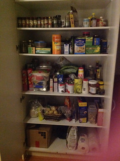 Our cupboard/pantry - ready for the week!
