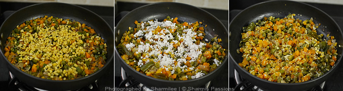 How to make carrot beans poriyal - Step3