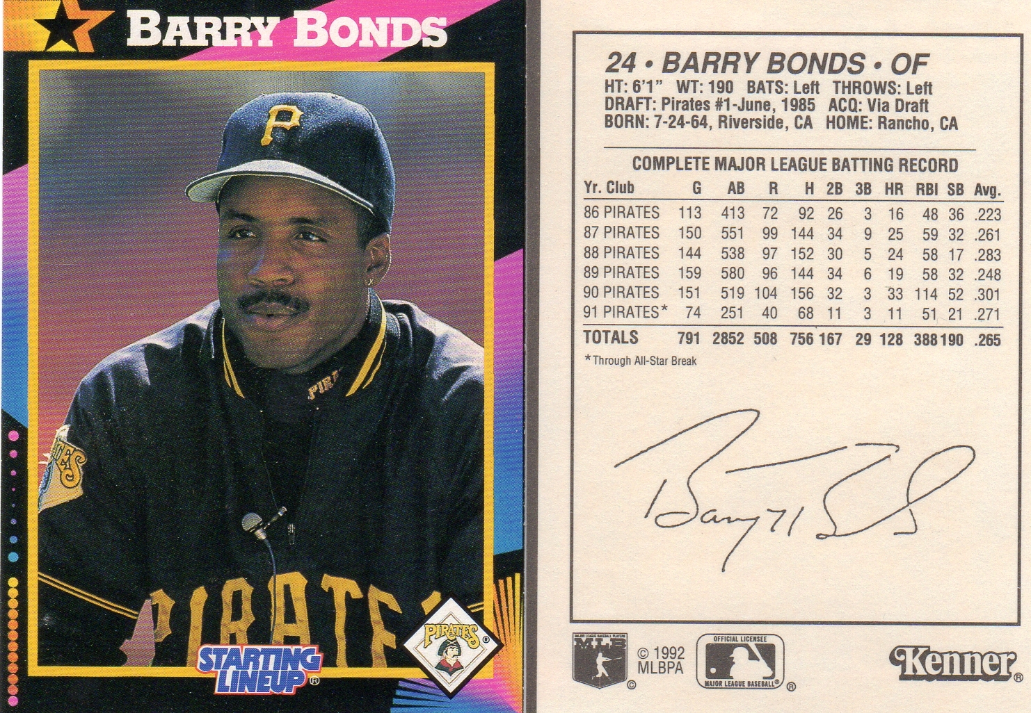 Barry Bonds Checklist - Supercollector Catalog